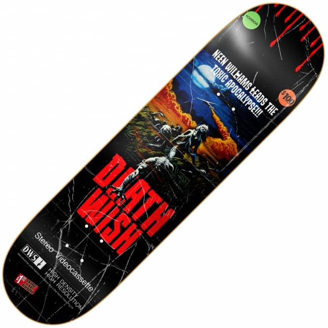 Deathwish Skateboards Neen Williams VHS Wasteland Skateboard Deck 8.25