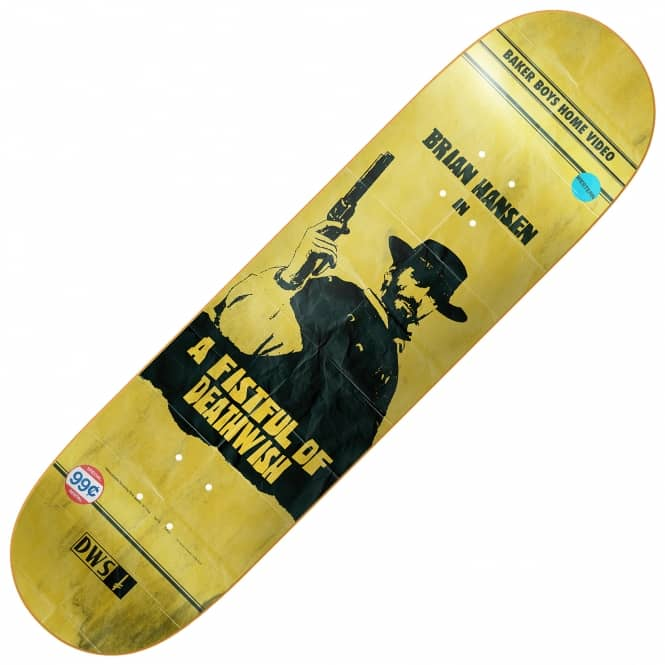 Deathwish Skateboards Slash VHS Wasteland Skateboard Deck 8.0