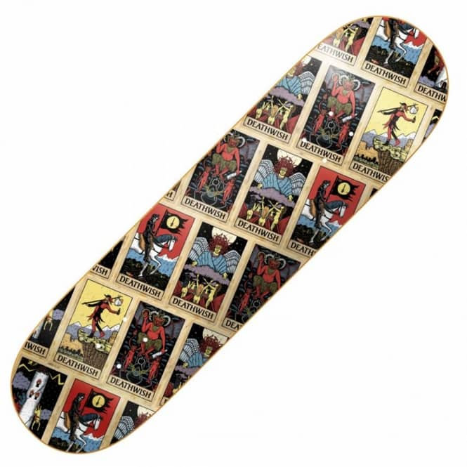Deathwish Skateboards Tarot Card Team Skateboard Deck 8.475''