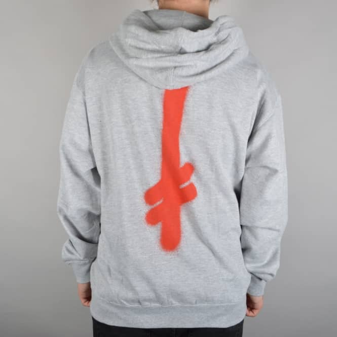 Deathwish Skateboards The Truth Zip Hoodie - Grey/Red