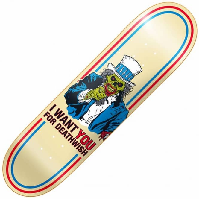 Deathwish Skateboards Uncle Scam Skateboard Deck 8.25''