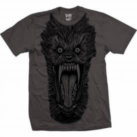 Deathwish Wolf Horror Skate T-Shirt Charcoal