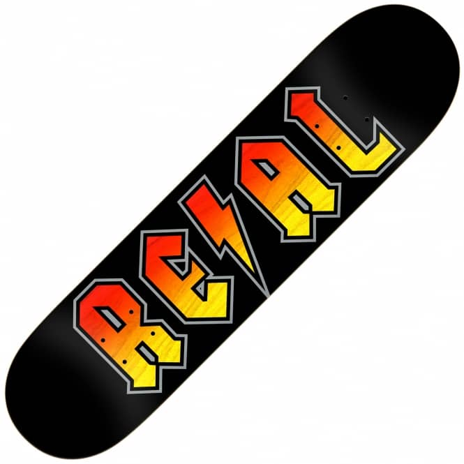 Real Skateboards Deeds Red/Yellow Stain (Full Shape) Skateboard Deck 8.5