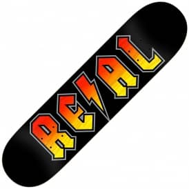 Deeds Red/Yellow Stain (Full Shape) Skateboard Deck 8.5