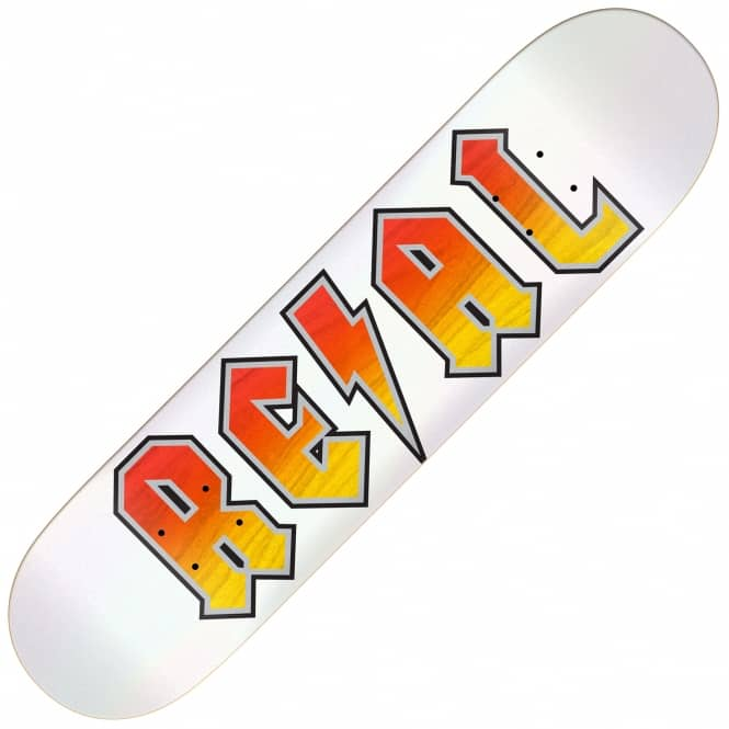 Real Skateboards Deeds White Out Skateboard Deck 8.5