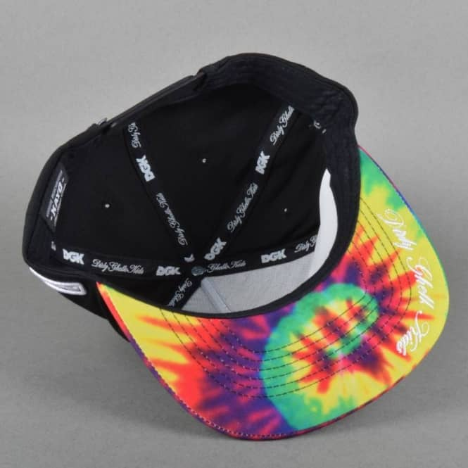 bb6259aa6e9 DGK Always 420 Snapback Cap - Black Tie Dye - Caps from Native Skate ...