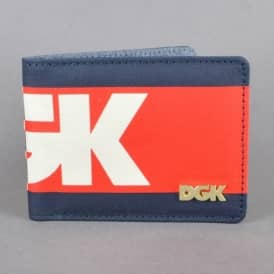 Anthem Bi-Fold Wallet - Navy/Red/Off White