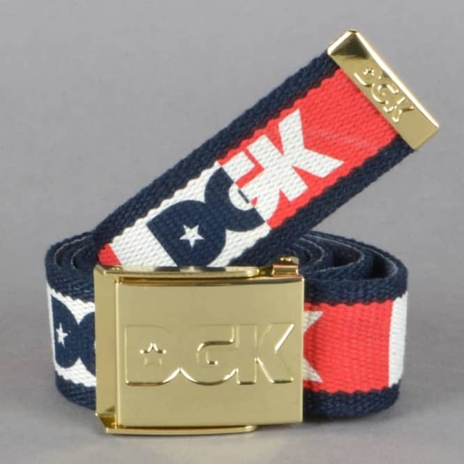 DGK Anthem Scout Web Belt - Navy/Red/Off White