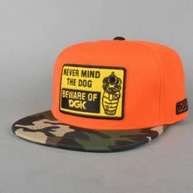 Beware Snapback Cap - Orange/Camo