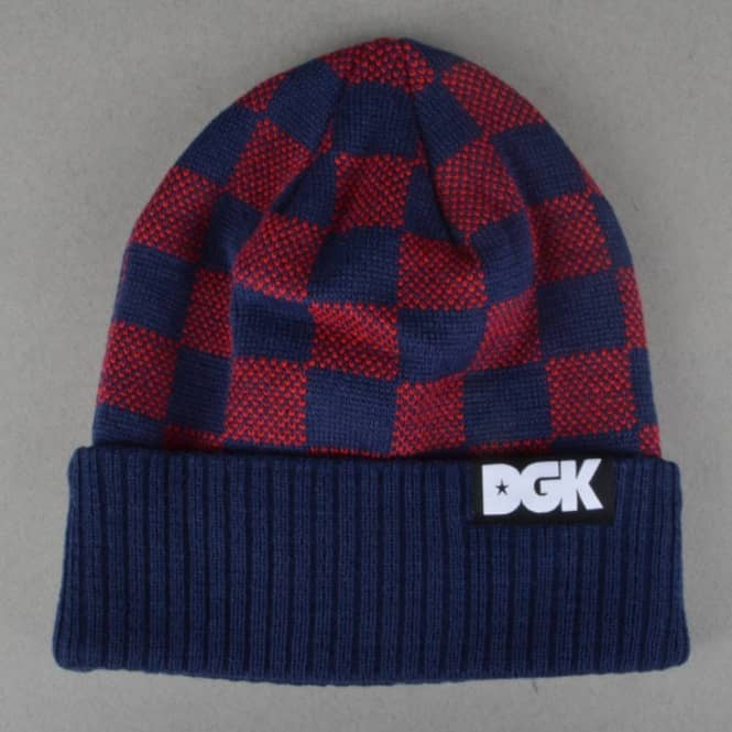 DGK Checkers Beanie - Navy