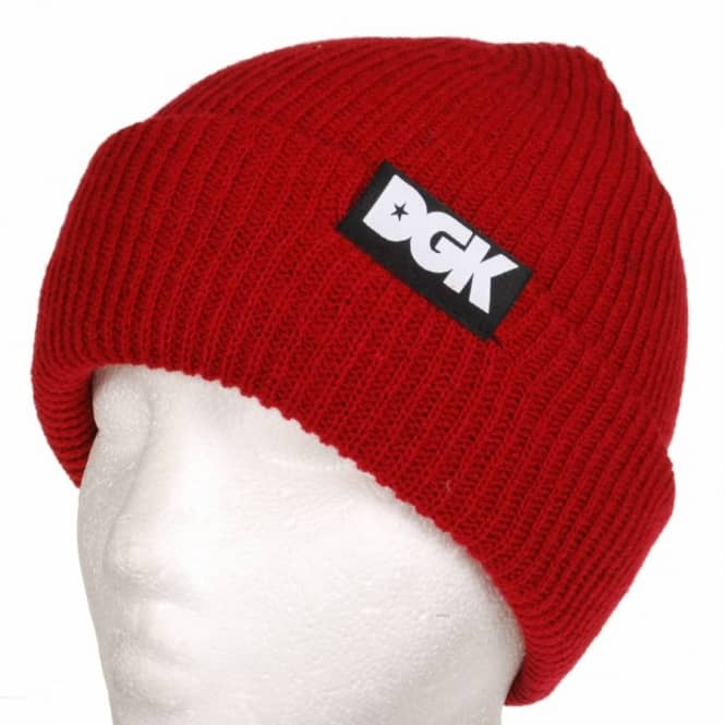 DGK Classic 3 Beanie - Red - Beanies from Native Skate Store UK 1667ba8743b