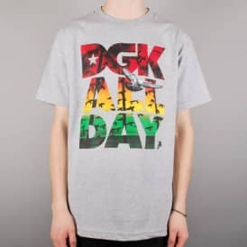 DGK All Day Jamaica Skate T-Shirt - Athletic Heather
