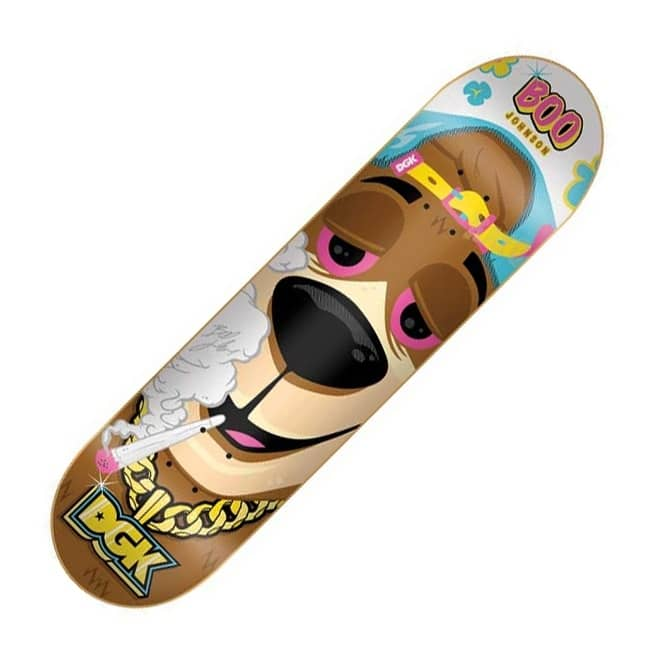 Dgk Boo Johnson Boo Boo White Skateboard Deck 8 0 Skateboard 8008aec20cb
