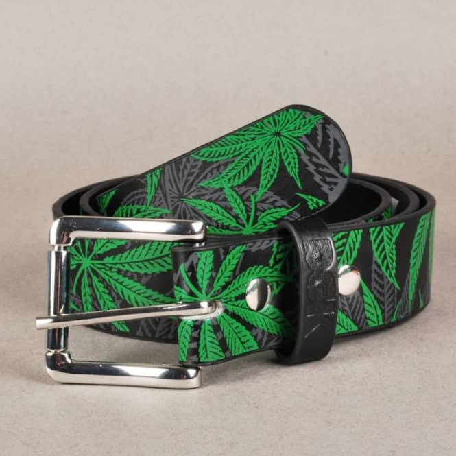 DGK DGK Home Grown Leather Look Belt - Black/Green