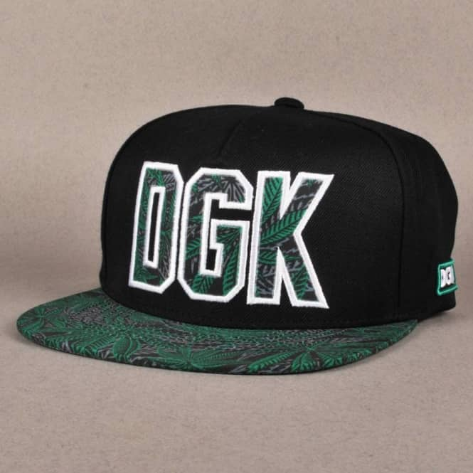 29ca632f866 DGK Home Grown Snapback Cap - Black Green - Caps from Native Skate ...