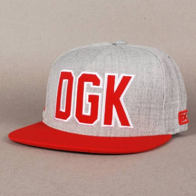 DGK Getters Snapback Cap athletic heather // red