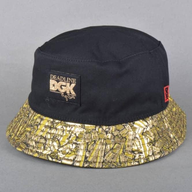 35906ada62c DGK x Deadline Reversible Bucket Hat - Black - Bucket Hats from ...