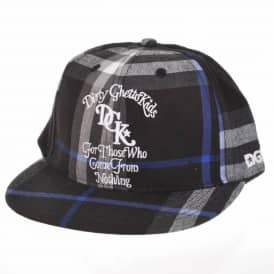 DGK From Nothing Plaid Snapback Cap - Black