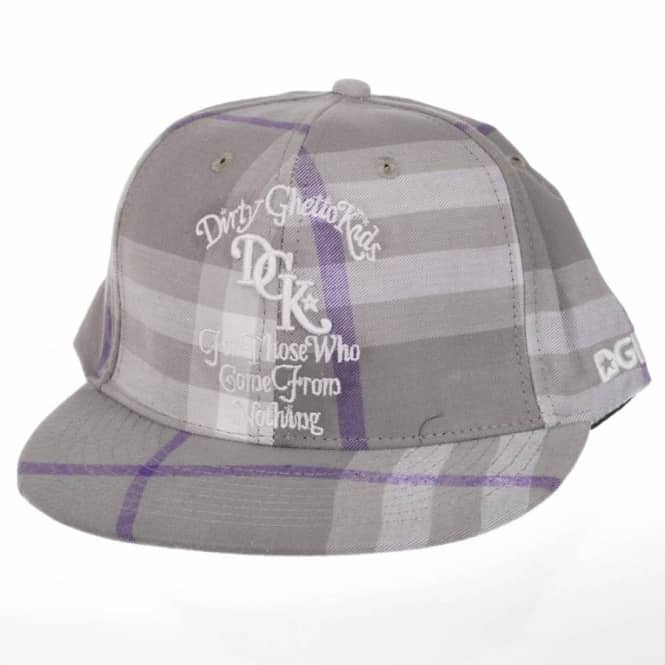DGK DGK From Nothing Plaid Snapback Cap - Grey