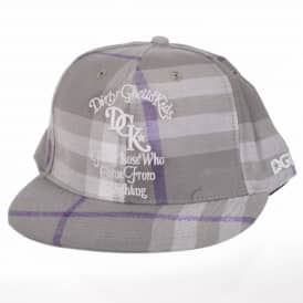 DGK From Nothing Plaid Snapback Cap - Grey