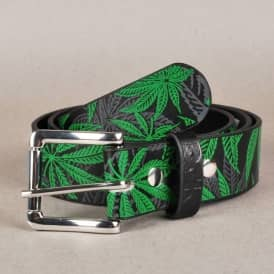 DGK Home Grown Leather Look Belt - Black/Green
