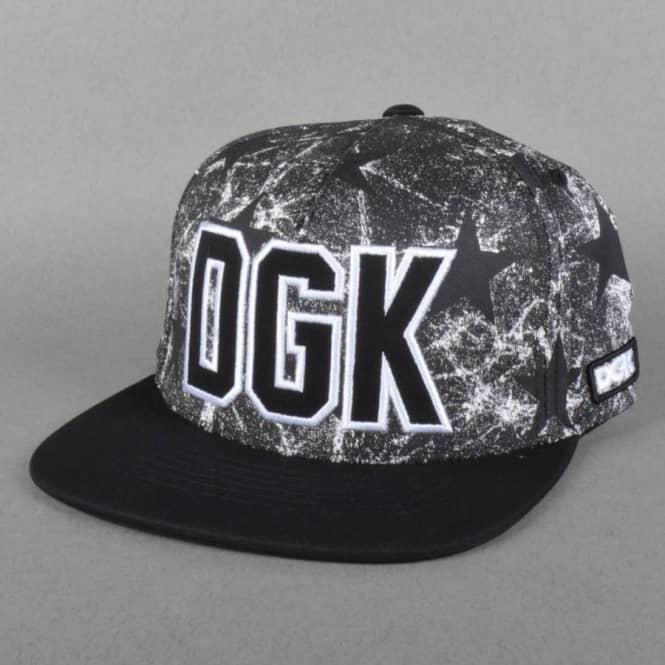 DGK Rough Snapback Cap - Black/Stars
