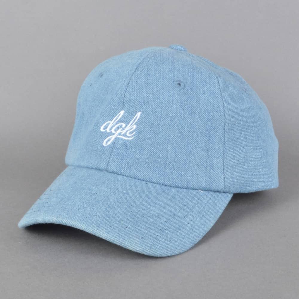 DGK Script Denim Strapback Dad Cap - Blue - SKATE CLOTHING from ... 4a475135ce0