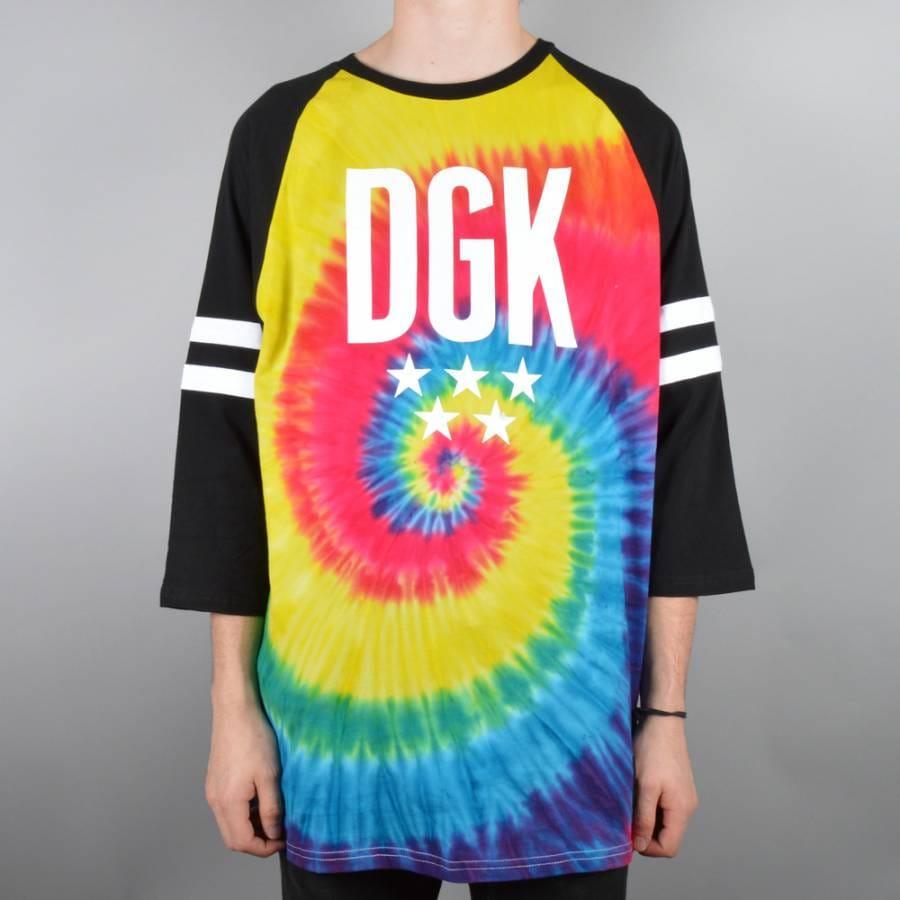 Dgk worldwide custom tie dye raglan tie dye black dgk for Custom t shirts tie dye