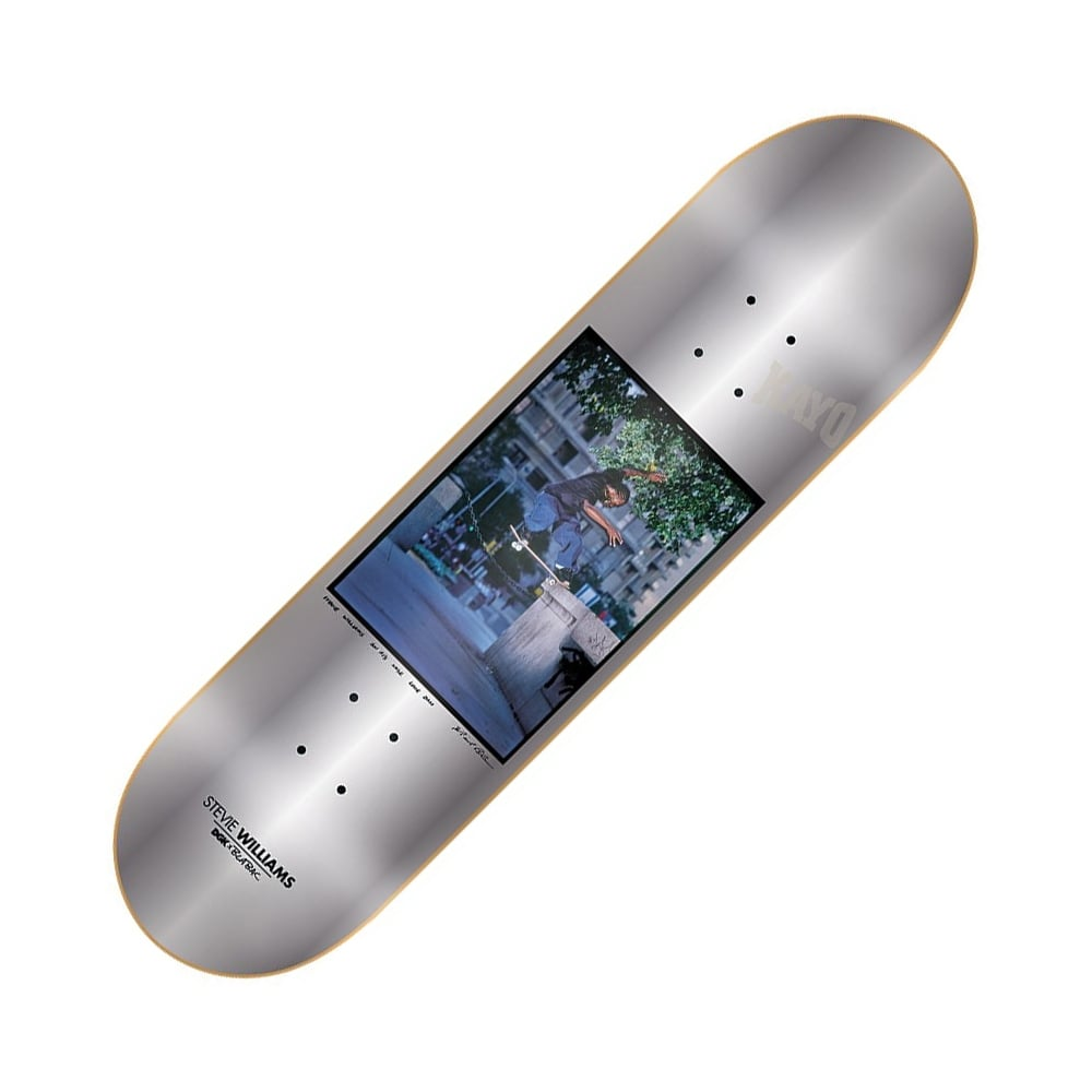 DGK DGK X Blabac Stevie Williams Silver Skateboard Deck 8.06