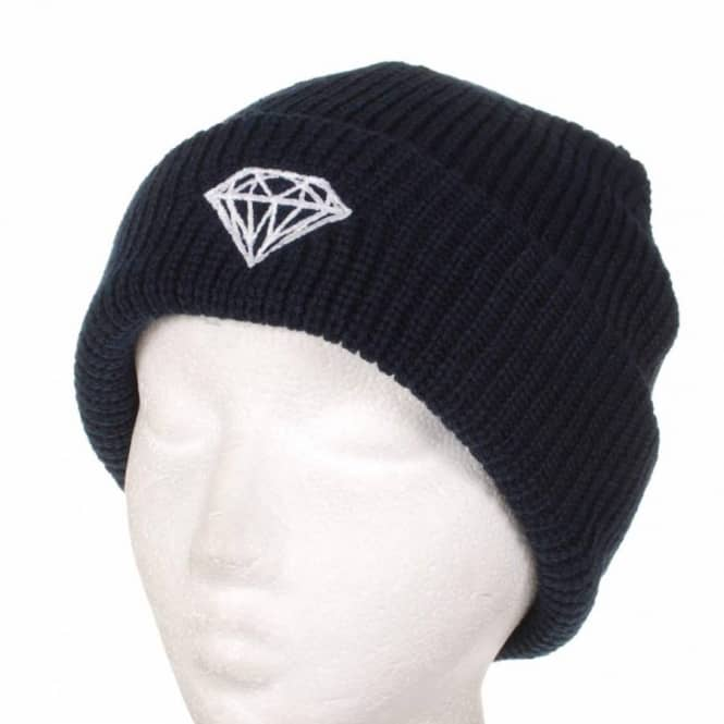 058ecefc382 Diamond Supply Co. Diamond Brilliant Fold Beanie - Navy - Beanies ...