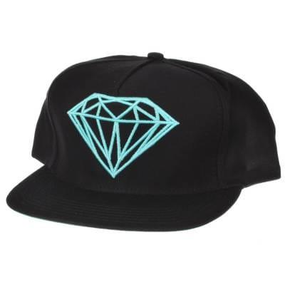 b6d6f137e24 Diamond Supply Co. Diamond Brilliant Snap Back Cap Black Diamond ...