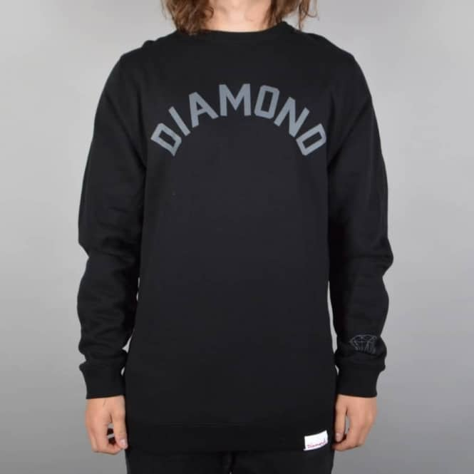 Diamond Supply Co Arch Crewneck Sweater - Black