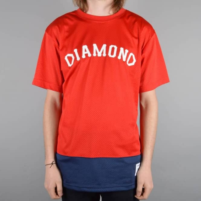 Diamond Supply Co. Arch Mesh T-Shirt - Red