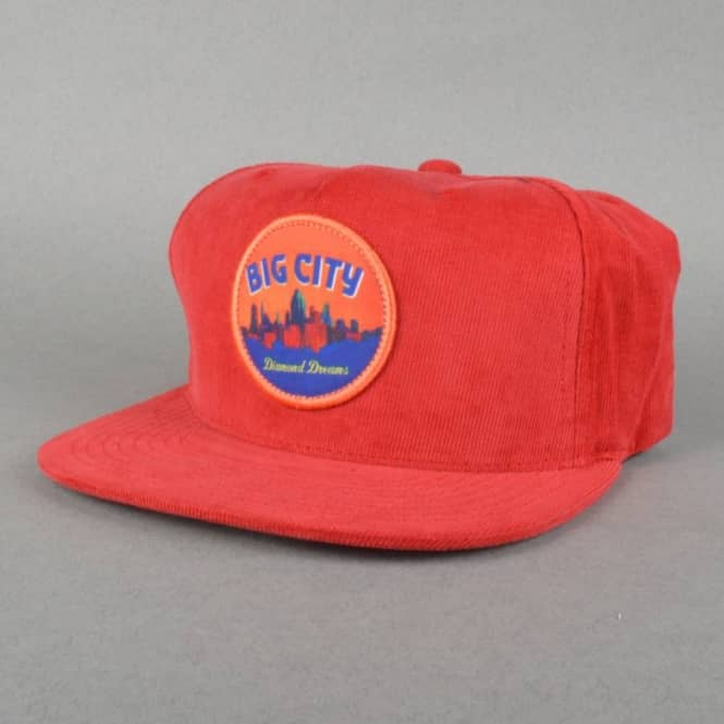 Diamond Supply Co Big City Snapback Cap - Burgundy