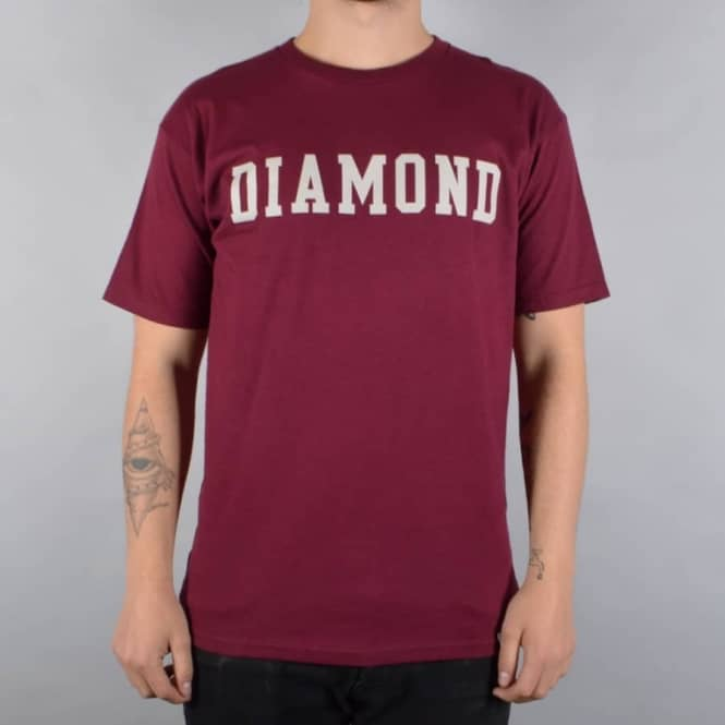Diamond Supply Co. Block Skate T-Shirt - Burgundy