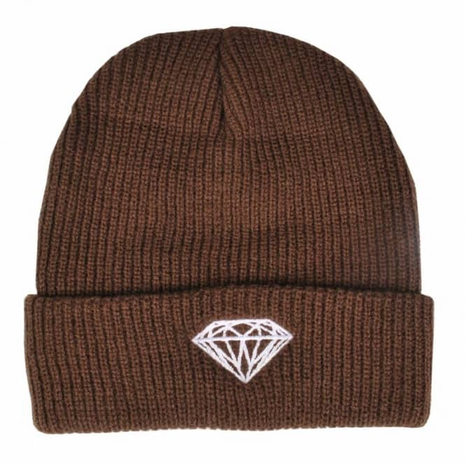 Diamond Supply Co. Diamond Supply Co. Brilliant Fold Beanie - Brown
