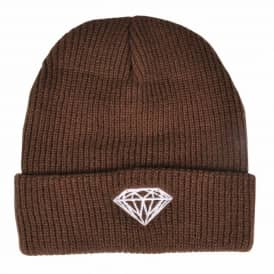 Diamond Supply Co. Brilliant Fold Beanie - Brown