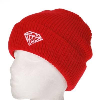 b6574dae034 Diamond Supply Co. Brilliant Fold Beanie Red - Beanies from Native ...