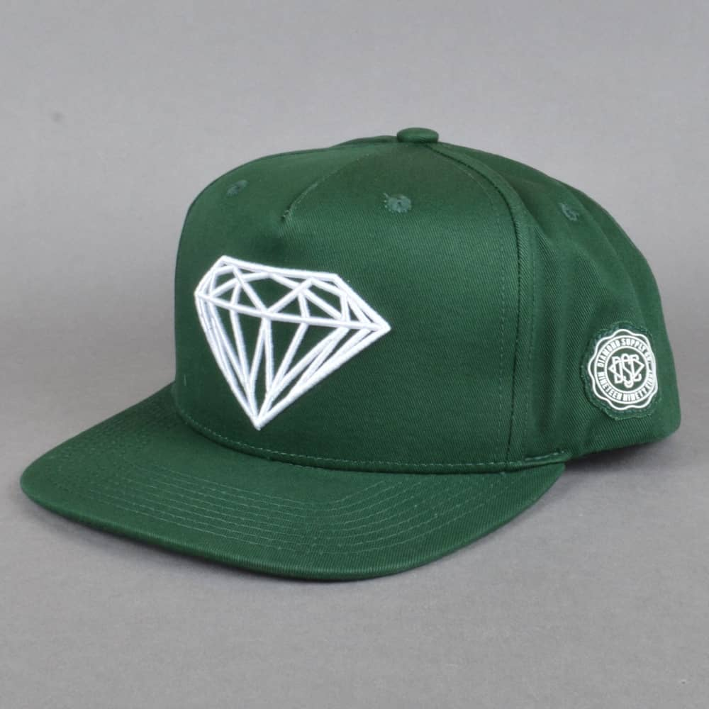 bb8234f3383933 Diamond Supply Co. Brilliant Snapback Cap - Green - SKATE CLOTHING ...