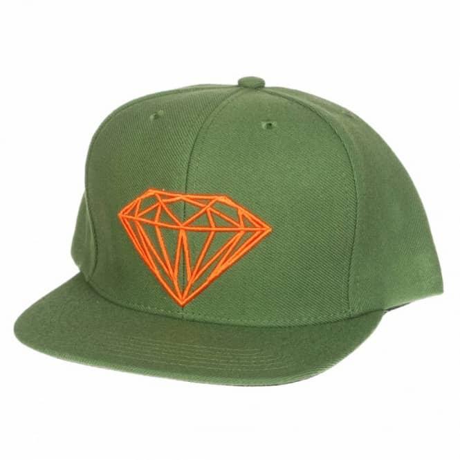 Diamond Supply Co. Brilliant Snapback Cap - Olive - Caps from Native ... cc70fd9d943