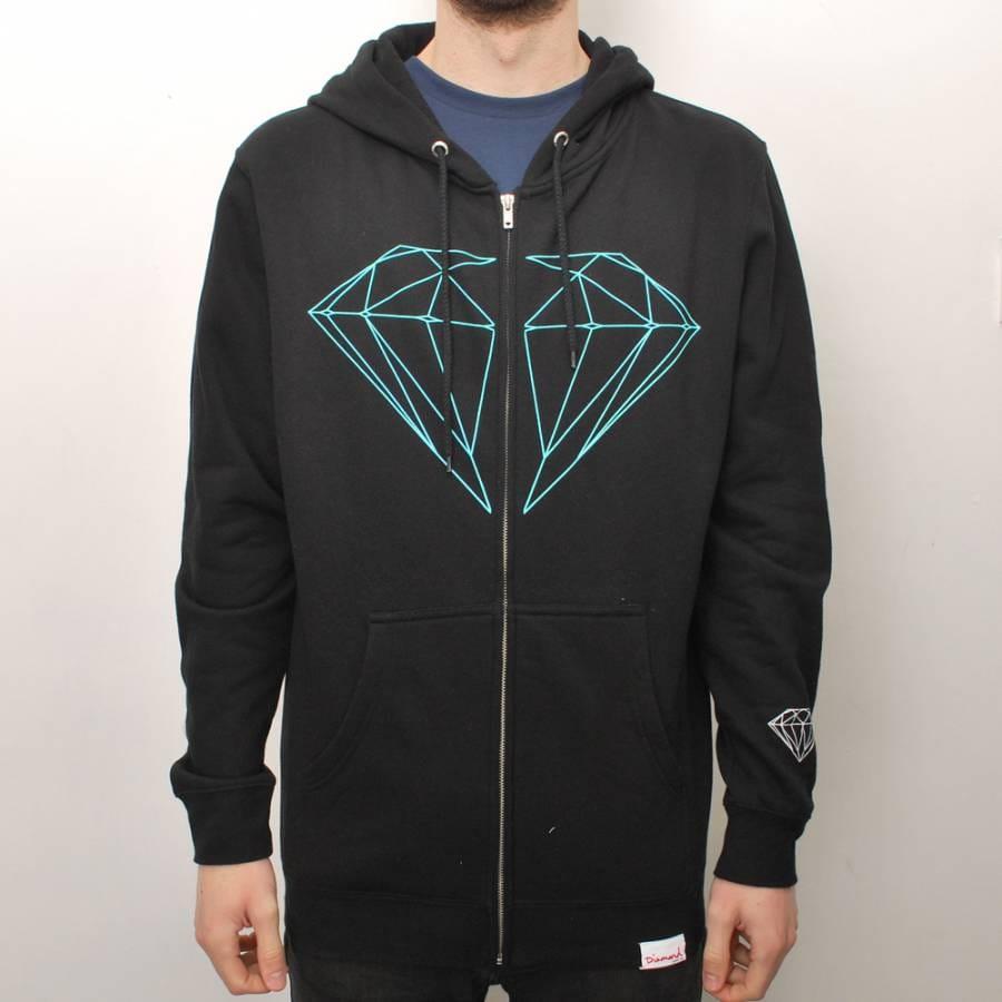 Diamond supply co zip up hoodie
