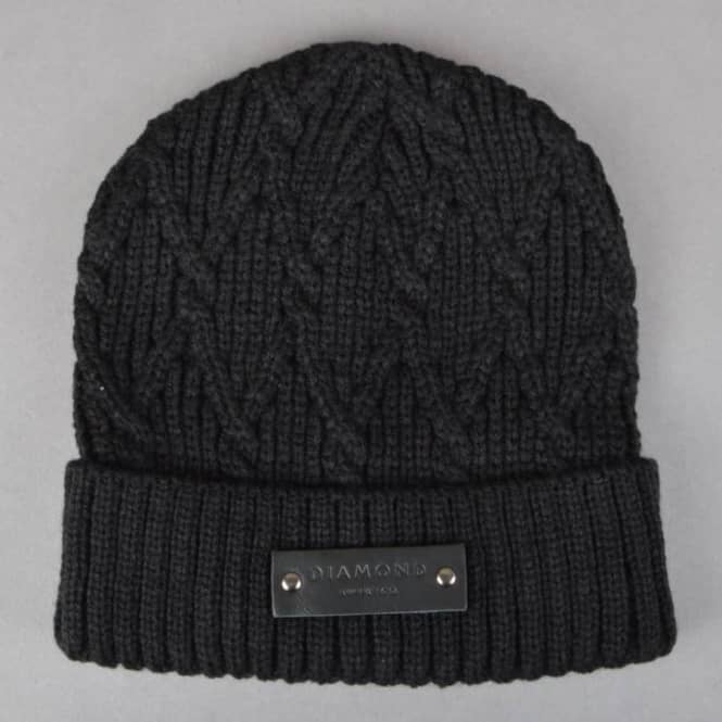 Diamond Supply Co Cable Knit Beanie - Black