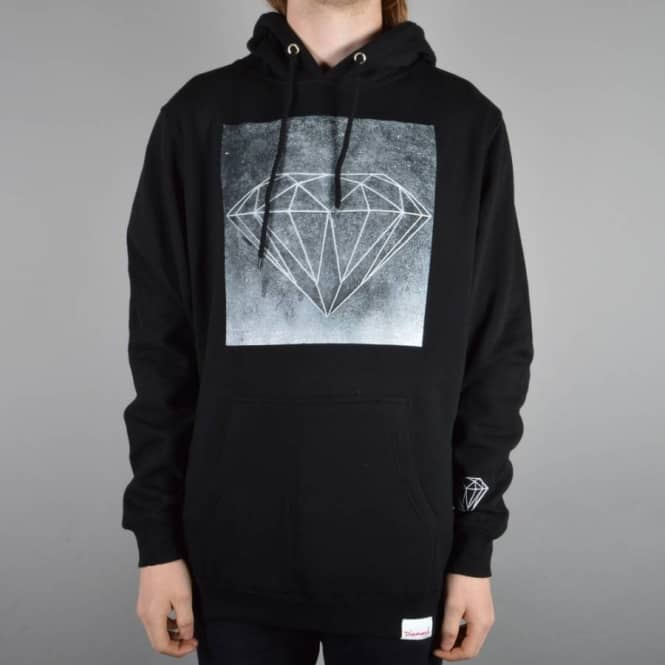 Diamond Supply Co Chalk Pullover Hoodie - Black