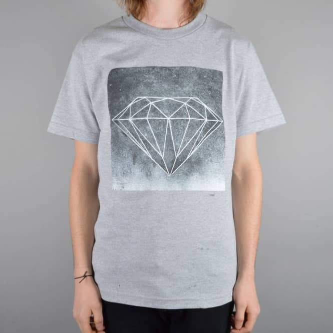 Diamond Supply Co Chalk Skate T-Shirt - Athletic Heather