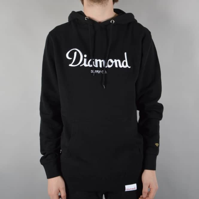 Diamond Supply Co Champagne Pullover Hoodie - Black