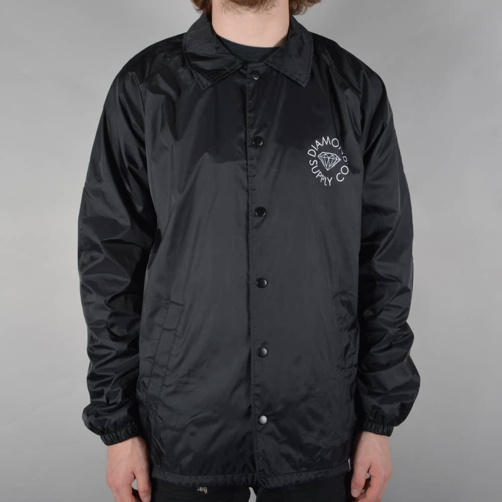 0bcbb67c406 Diamond Supply Co. Circle Logo Coach Jacket - Black - SKATE CLOTHING ...
