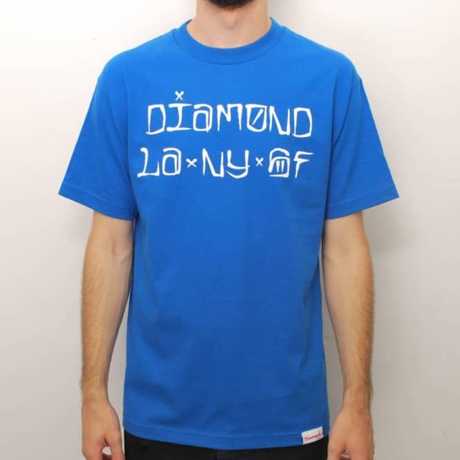 Diamond Supply Co Diamond Supply Co. Cities Skate T-Shirt - Royal Blue