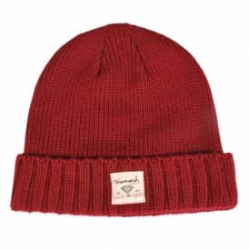 Diamond Supply Co. City Cuff Beanie - Burgundy