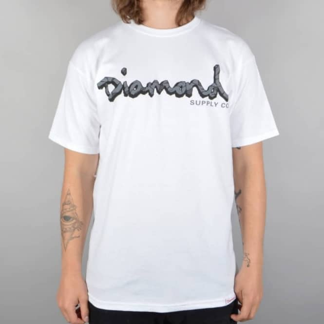 Diamond Supply Co. Coal OG Script Skate T-Shirt - White