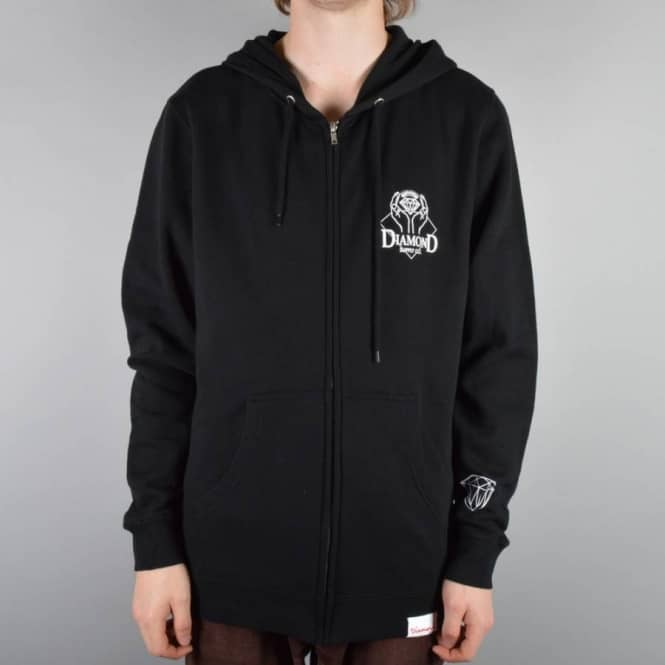 Diamond Supply Co Coverted Zip Hoodie - Black